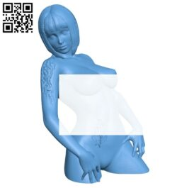 Tattoo girl B008199 file stl free download 3D Model for CNC and 3d printer