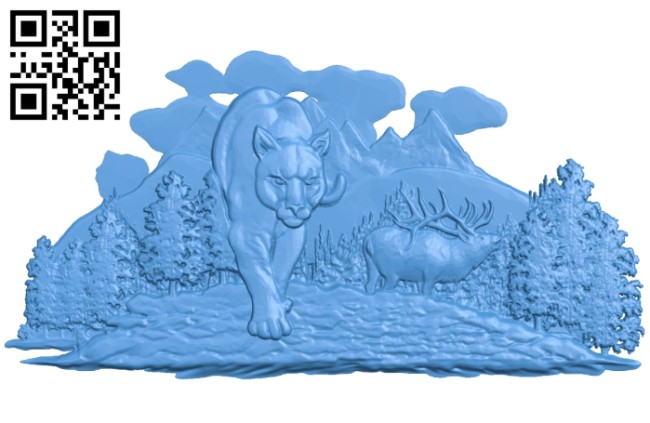 The Cheetah is hunting A005266 download free stl files 3d model for CNC wood carving
