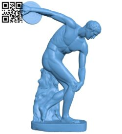 The Discobolus B008138 file stl free download 3D Model for CNC and 3d printer