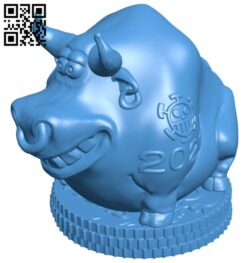 The buffalo saves money – Kopilka 2021 B008060 file stl free download 3D Model for CNC and 3d printer