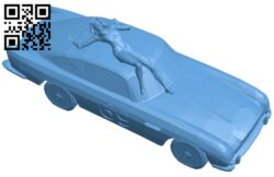 The girl on the sports car B008166 file stl free download 3D Model for CNC and 3d printer