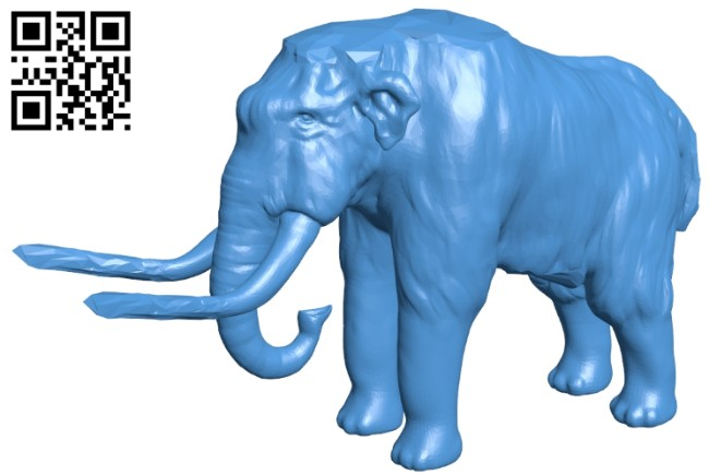 The mammoth - Elephant B008107 file stl free download 3D Model for CNC and 3d printer