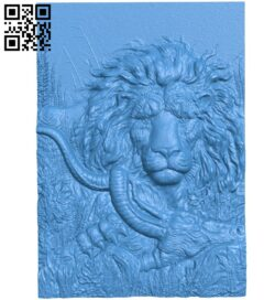 The picture of a lion hunting A005268 download free stl files 3d model for CNC wood carving