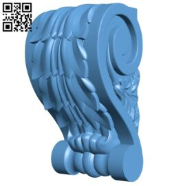 Top of the column A005368 download free stl files 3d model for CNC wood carving