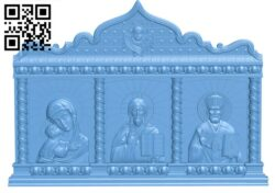 Triptych Icon A005396 download free stl files 3d model for CNC wood carving