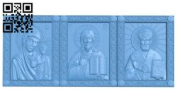 Triptych Icon A005397 download free stl files 3d model for CNC wood carving