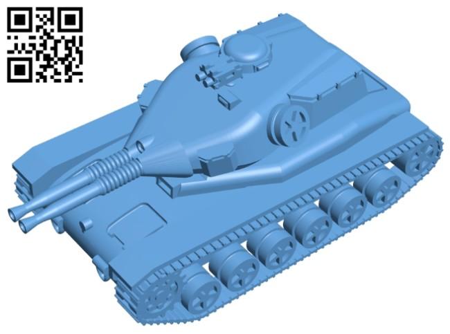 Twin gun tank B008311 file stl free download 3D Model for CNC and 3d printer