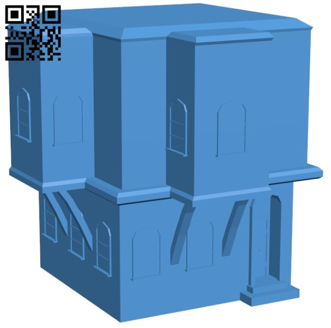 Two storey house B008129 file stl free download 3D Model for CNC and 3d printer