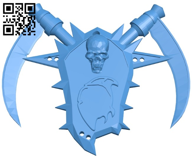 Undead amulet B008101 file stl free download 3D Model for CNC and 3d printer