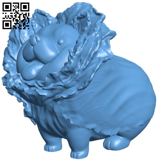 Vegetable dog B008210 file stl free download 3D Model for CNC and 3d printer