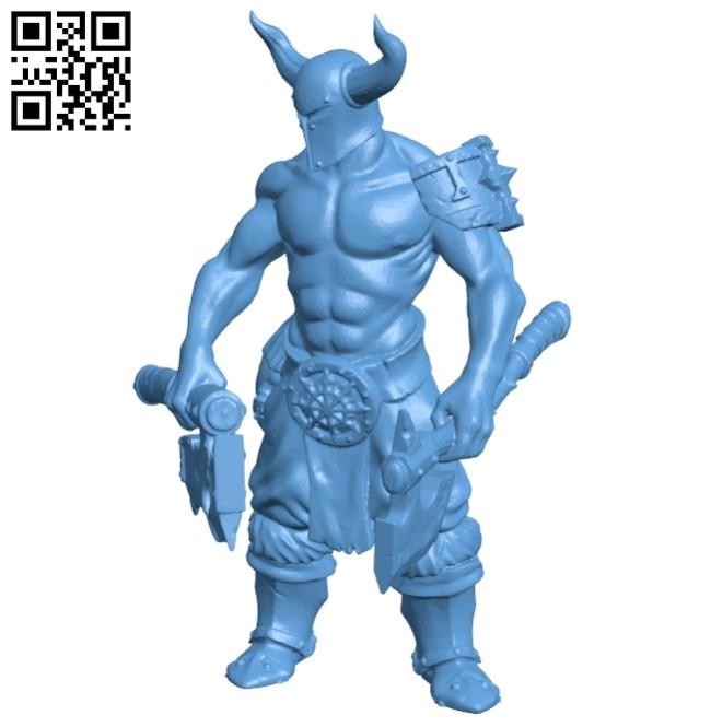 Viking - man B008221 file stl free download 3D Model for CNC and 3d printer