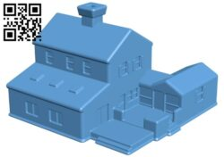 Village House B008206 file stl free download 3D Model for CNC and 3d printer