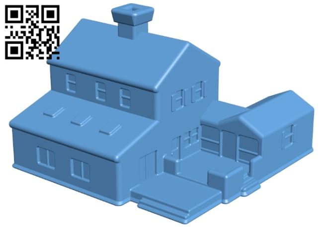 Village House B008206 file stl free download 3D Model for CNC and 3d printer