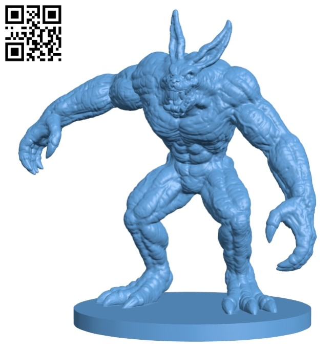 Vizzerdrix - rabbit B008208 file stl free download 3D Model for CNC and 3d printer