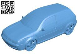 Volkswagen golf IV – car B008205 file stl free download 3D Model for CNC and 3d printer