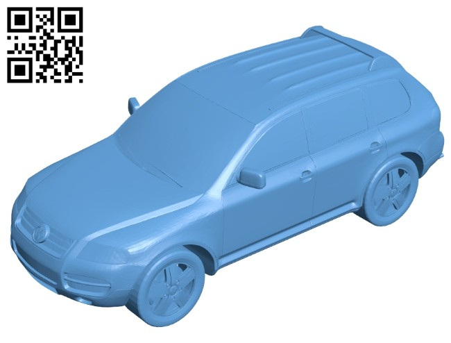 Volkswagen touareg - car B008204 file stl free download 3D Model for CNC and 3d printer