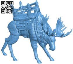 War moose B008163 file stl free download 3D Model for CNC and 3d printer