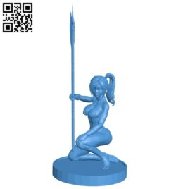 Warrior woman B008119 file stl free download 3D Model for CNC and 3d printer