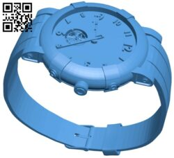 Watch male B008109 file stl free download 3D Model for CNC and 3d printer