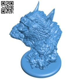Were wolf bust fixed B008055 file stl free download 3D Model for CNC and 3d printer