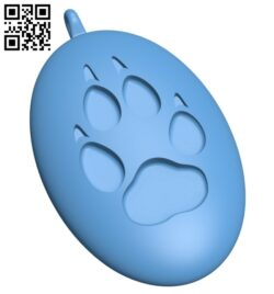 Wolf track pendant B008273 file stl free download 3D Model for CNC and 3d printer