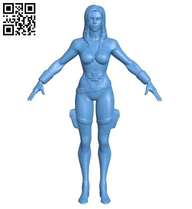 Women - black widow B008189 file stl free download 3D Model for CNC and 3d printer