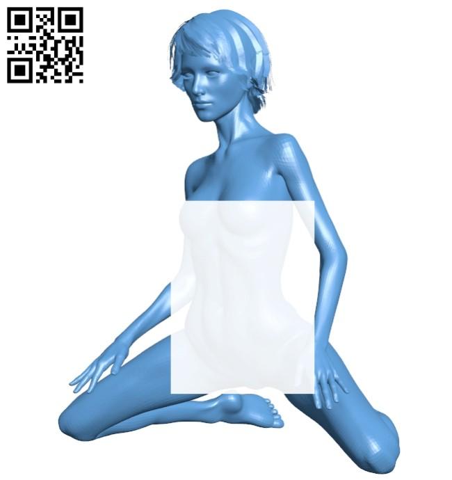 Women pose B008287 file stl free download 3D Model for CNC and 3d printer