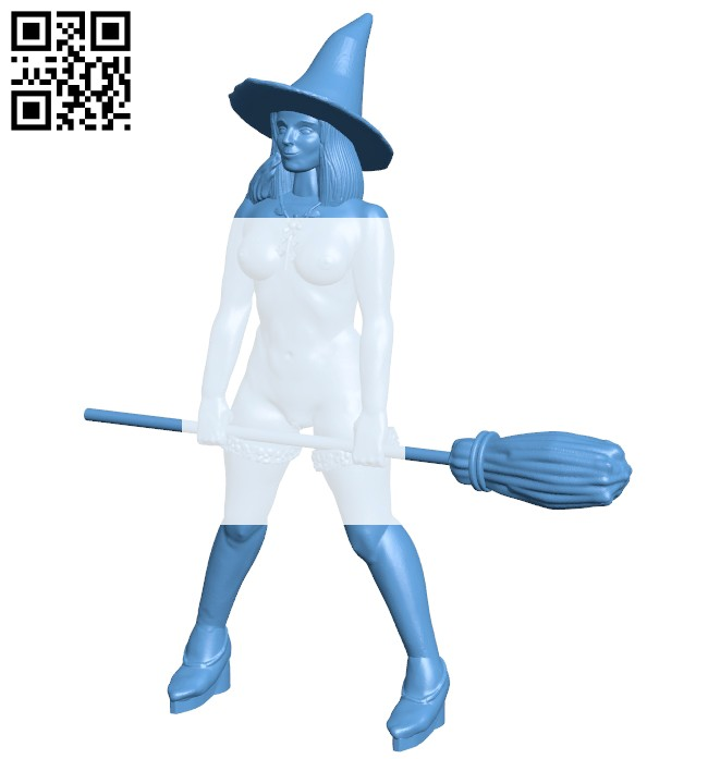 Women seductive witch B008143 file stl free download 3D Model for CNC and 3d printer
