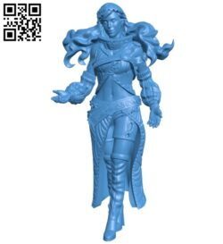 Women wind B008111 file stl free download 3D Model for CNC and 3d printer