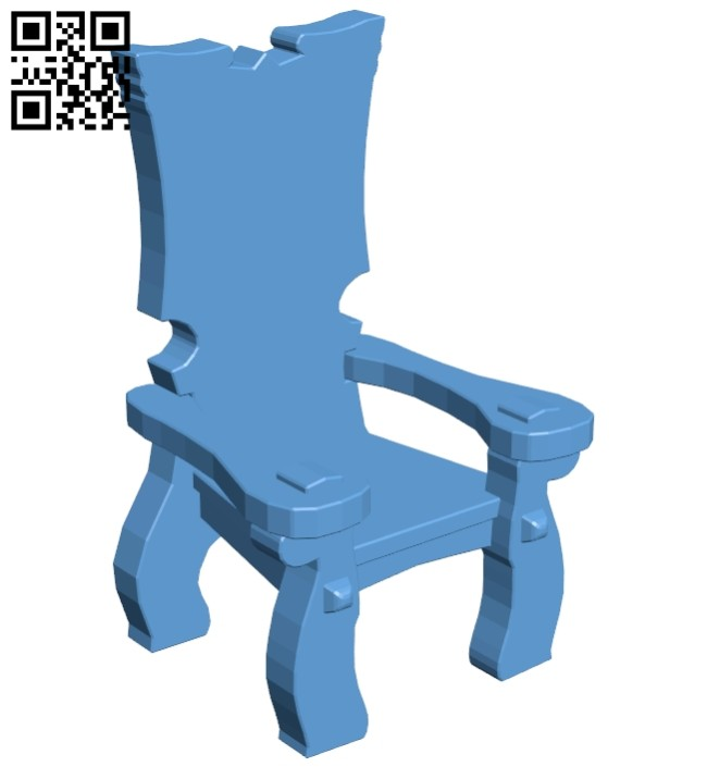 Wooden throne B008260 file stl free download 3D Model for CNC and 3d printer