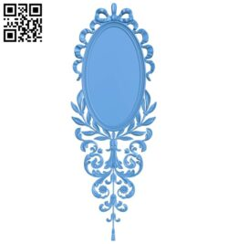 Oval picture frame A005240 download free stl files 3d model for CNC wood carving