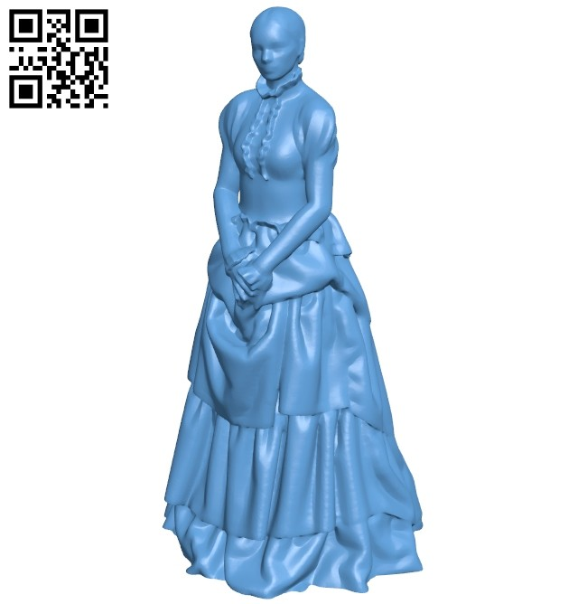 19th century girl B008542 file stl free download 3D Model for CNC and 3d printer