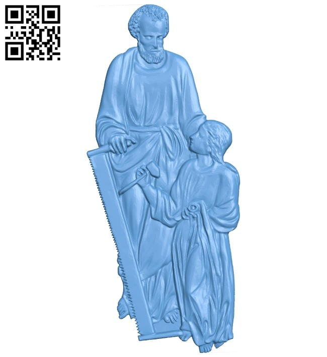 A picture of the carpenter A005589 download free stl files 3d model for CNC wood carving