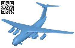 Airplane il 76 B008607 file stl free download 3D Model for CNC and 3d printer