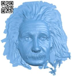Albert Einstein A005660 download free stl files 3d model for CNC wood carving