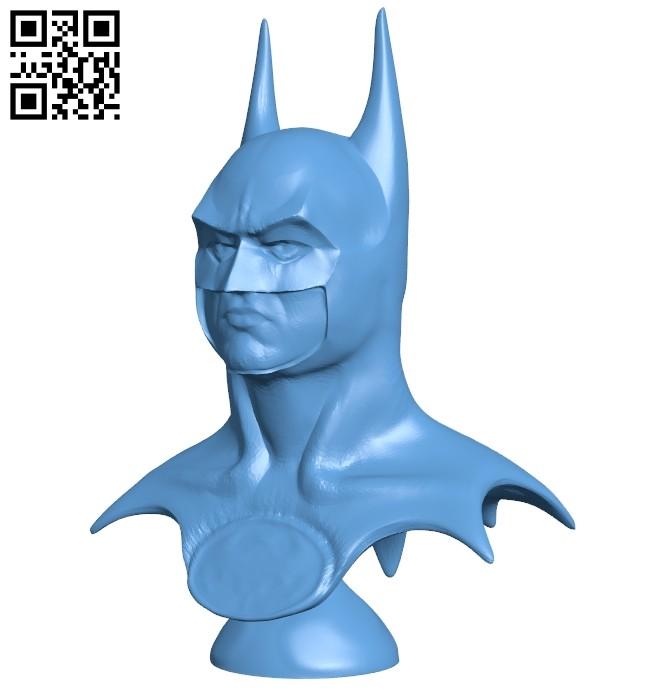Batman bust 1989 B008620 file stl free download 3D Model for CNC and 3d printer