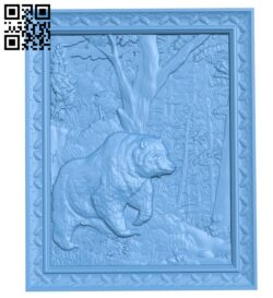 Bear painting A005678 download free stl files 3d model for CNC wood carving