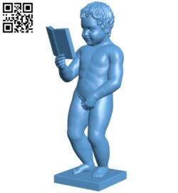 Boy standing pee B008332 file stl free download 3D Model for CNC and 3d printer