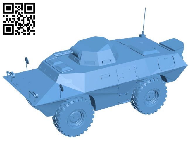 Cadillac gage gommando V-100 B008572 file stl free download 3D Model for CNC and 3d printer
