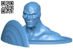 Captain bust – superhero B008530 file stl free download 3D Model for CNC and 3d printer