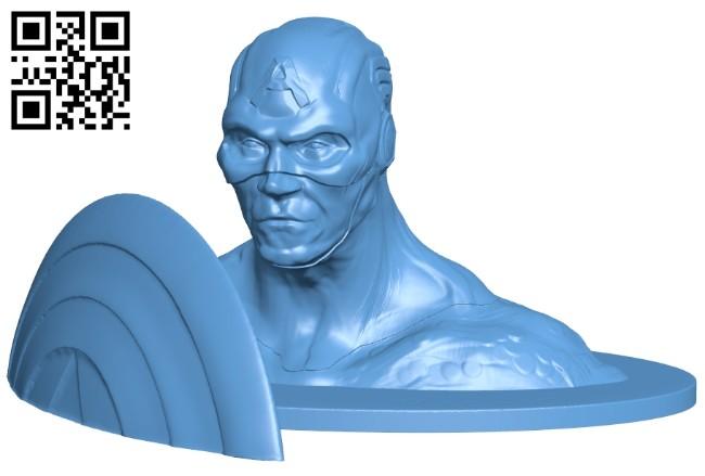 Captain bust - superhero B008530 file stl free download 3D Model for CNC and 3d printer