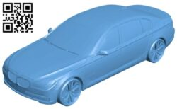 Car BMW 750 B008549 file stl free download 3D Model for CNC and 3d printer
