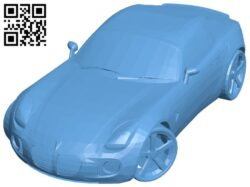 Car Pontiac GXP B008526 file stl free download 3D Model for CNC and 3d printer