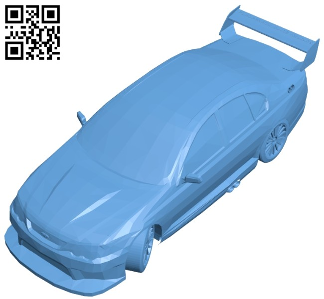 Car ford race B008412 file stl free download 3D Model for CNC and 3d printer