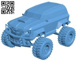 Car race bigfoot B008500 file stl free download 3D Model for CNC and 3d printer