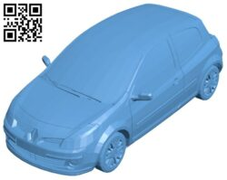 Car reno clio B008600 file stl free download 3D Model for CNC and 3d printer