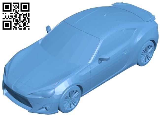 Car scion FRS B008421 file stl free download 3D Model for CNC and 3d printer