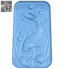 Carp fishing painting A005664 download free stl files 3d model for CNC wood carving