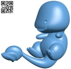 Charmander – pokemon B008616 file stl free download 3D Model for CNC and 3d printer