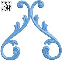 Pattern decor design A005656 download free stl files 3d model for CNC wood carving